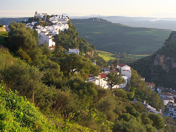 Casares in February - from the walking route.