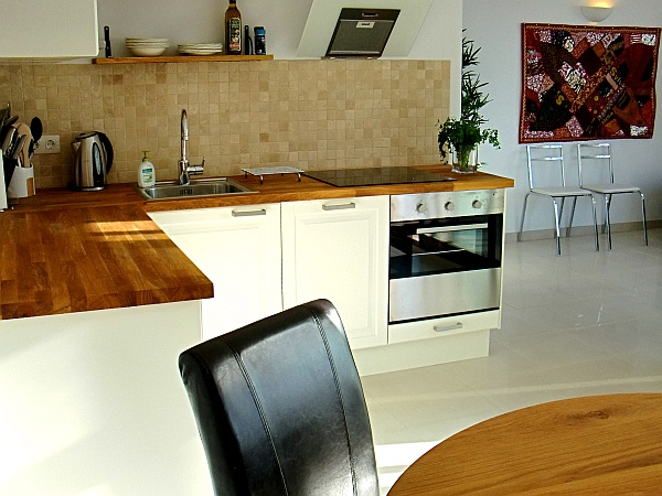 The kitchen at apartment 169 at Costa-Natura is all new and fully equipped with appliances