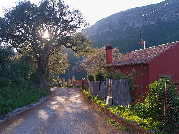 A beautiful bend in the road on the circular route at Casares