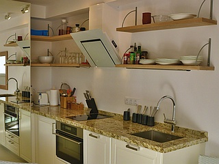 The kitchen in Apartment 170, Costa Natura, Estepona